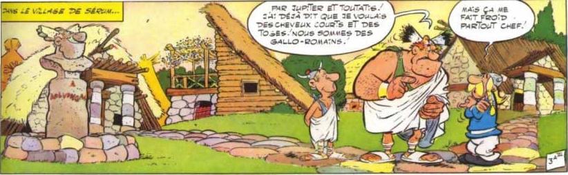 Aplusbegalix, Gosciny & Uderzo, Le Combat des chefs, 1966, Dargaud, page 7 [extrait]