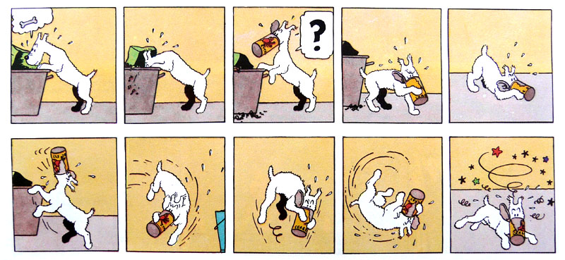 Hergé, Le Crabe aux pinces d'or, 1941, page 1 [extrait]. Copyright © Hergé / Moulinsart