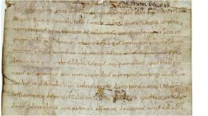 Extrait de la Charte de Riculphe, ADSM, 14H156; 872.