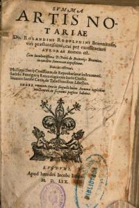 Rolandino Summa 1559 Titel