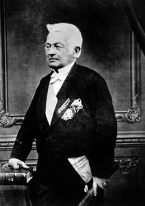 Portrait officiel d'Adolphe Thiers, 1871. Photographie par Pierre Petit.