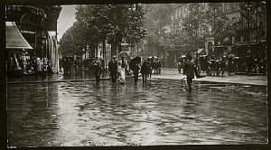 Alfred Stieglitz-A Wet Day On the Boulevard - Paris, 1897