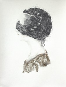 Sarah Jérôme Nattes, technique mixte sur papier, 60 cm x 80cm, 2015 Courtesy de l'artiste et de la Galerie Da-End