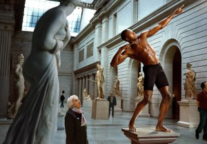 Martin Schoeller, Usain Bolt at The Metropolitan Museum of Art, New York, 2009.