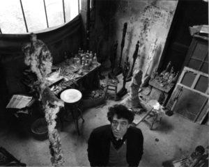 Robert Doisneau, Alberto Giacometti dans son atelier, 1957