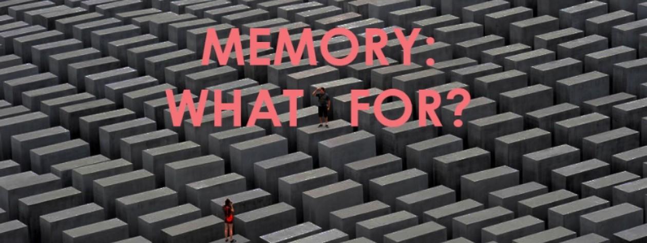 MEMORY: WHAT FOR? Peut-on seulement tirer les leçons du passé ?
