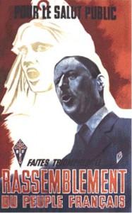 Affiche du R.P.F. pour les élections législatives de 1951