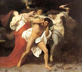 Les relations de La Fayette avec la presse de gauche (allégorie) ou Les Remords d'Oreste, Wikimedia commons, William Auguste Bouguereau
