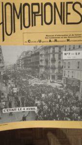 Couverture du journal Homophonie n°7, mai 1981, C.C, Mathias Quéré
