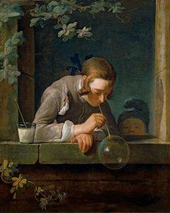 Jean-Siméon Chardin, La bulle de savon, Wikimedia Commons