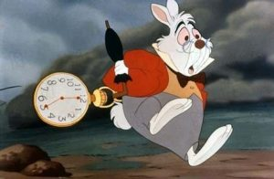The white rabbit, Alice's adventures in wonderland, Walt Disney Pictures, tous droits réservés