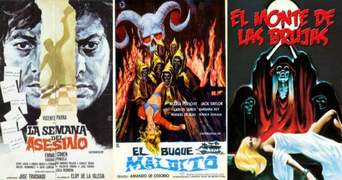 Cannibal Man, El Buque maldito (en  tant que directeur de la photographie) et son premier long-métrage inédit en Espagne El monte de las brujas : trois facettes du fantaterror des années 1970.
