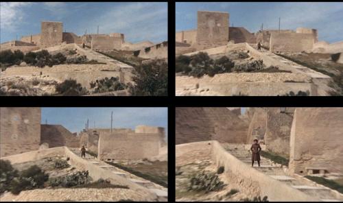 De haut en bas et de gauche à droite : Le zoom sur la directrice la caractérise d'emblée comme un personnage néfaste.