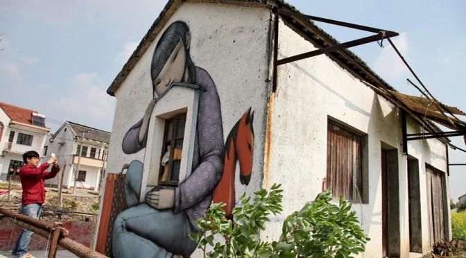 Un artiste français illumine un village proche de Shanghai