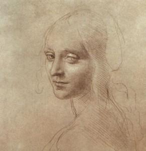 Leonardo Da Vinci - Study Of An Angel