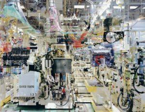 """Couturier (1957- ), Usine Toyota n°15, Valenciennes, 2005, Série """"Melting Point"""" - Usine Toyota n°5 - Valenciennes 2005 - C-Print - 160 x 212 cm + marges - 5ex."""