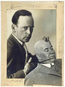 John HEARTFIELD (1891-1968), Autoportrait avec le commissair de police Zörgiebel, 1929, maquette pour AIZ, Berlin, Académie des Arts