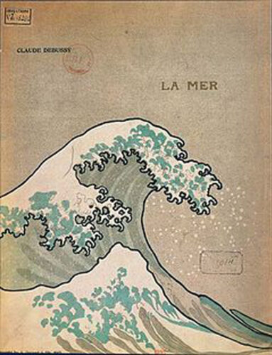 Couverture de la partition de La Mer, Paris, Durant, 1905, BNF.