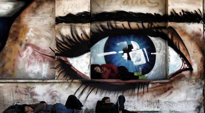 Scènes de guerre en zone de paix, Aris Messinis, making-of.afp.com, 10/11/2015