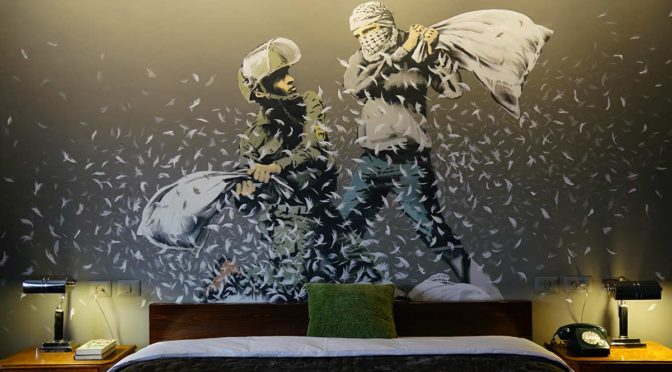 Banksy, Walled Off Hotel, Bethléem, mars 2017