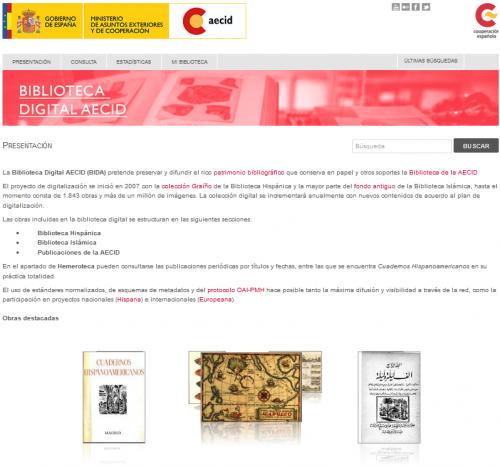 Biblioteca digital AECID