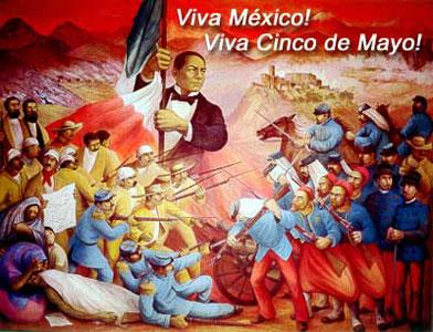 Mural conmemorativo de la Batalla de Puebla