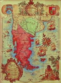 Mapa del Reino de Araucanía y Patagonia
