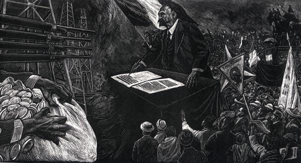 Leopoldo Méndez, Revolución y petróleo