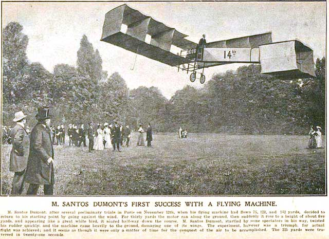 Santos-Dumont, piloto de avión