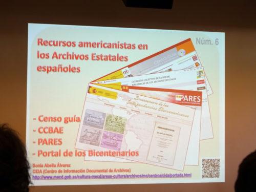 recursos americanistas archivos estatales españoles Nolan 2017