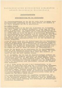 Anleitung für das Stadtschulpraktikum (NLA OS Erw A 54 Akz. 2012 068 Nr. 1V)
