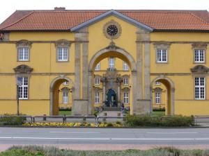 """Das Portal des """"Uhrenflügels"""" (Gebäude 14) (Foto: Thorsten Unger)"""