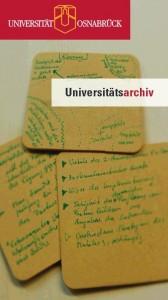 Infoflyer des Universitätsarchivs Osnabrück