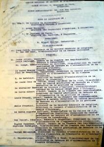 Composition du comité exécutif du CNSA, AGR I 446 141
