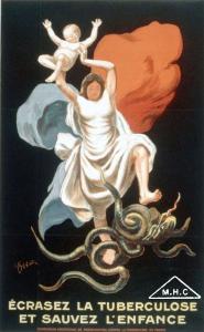 Affiche de la commission américaine de préservation contre la tuberculose en France, 1917, BDIC-MHC