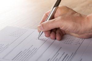 Illlustration : questionnaire à cocher