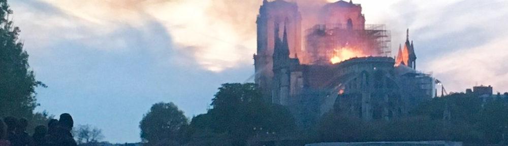 Feuer von Notre Dame de Paris
