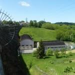 Depuis le barrage de Vezins (vers l'aval) (Isigny-le-Buat, 50), Mai 2014