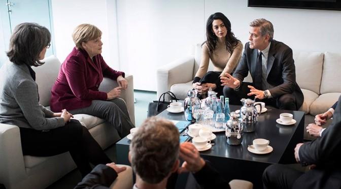 Clooneys für die Kanzlerin