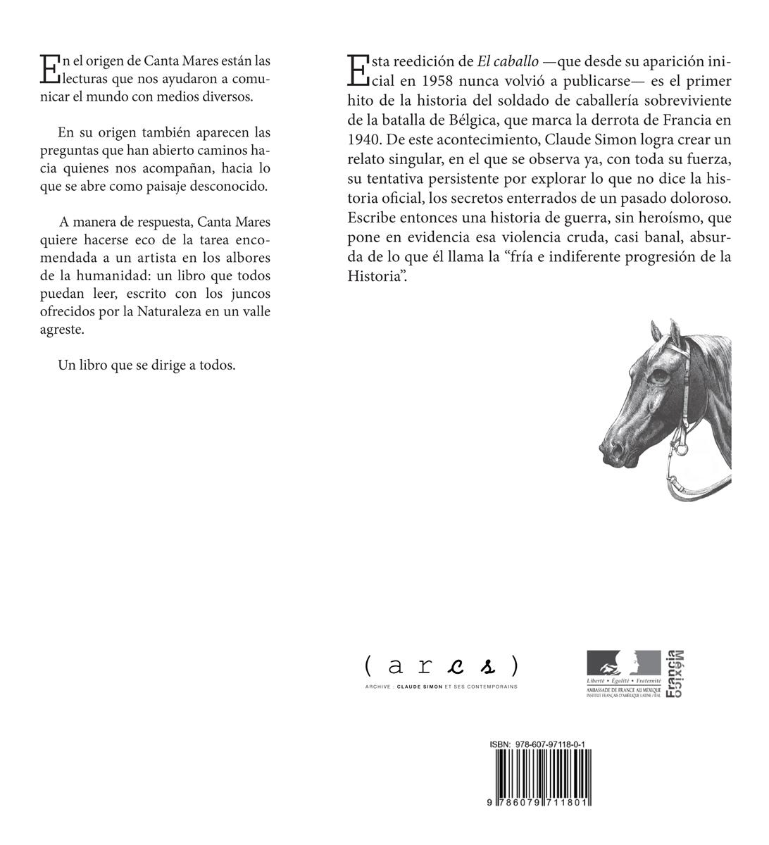 El Caballo - Claude Simon - 4ème de Couverture