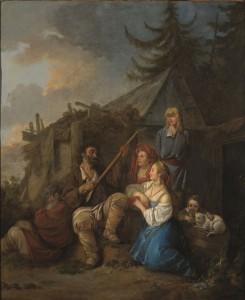 Jean-Baptiste Le Prince, Le Joueur de balalaïka, 1764, huile sur toile, 72,5 x 60 cm, Paris, musée Cognacq-Jay. © Musée Cognacq-Jay / Roger-Viollet