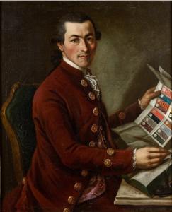 Giovanni Battista Lampi, Giovanni Battista Rensi, marchand de tissus, 1780, huile sur toile, 82 x 67 cm, collection particulière.