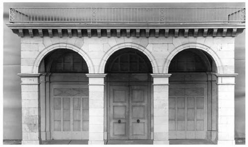 Charles Percier et Pierre Fontaine (d'après), « La rue de Rivoli », jeu de construction des princes de la famille d'Orléans, vers 1820, Paris, Musée Carnavalet, PM 109.