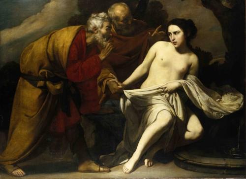[Fig. 4] Massimo Stanzione, Suzanne et les vieillards, v. 1630- 1635, huile sur toile, 152 x 204 cm, Francfort, Städel Museum.