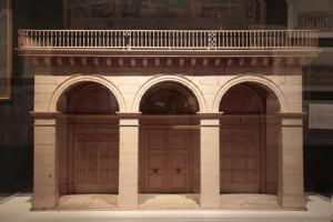 «La rue de Rivoli», jeu de construction des princes de la famille d'Orléans, vers 1820, bois découpé, peint et assemblé, Paris, musée Carnavalet. © Musée Carnavalet