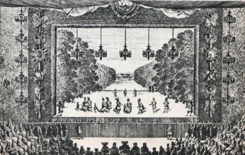 Les plaisirs de l'île enchanté, Gravure, XVIIe siècle.