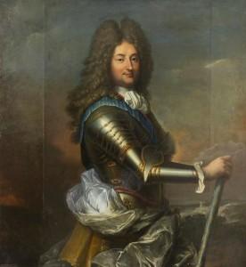 D'après Jean-Baptiste Santerre, Philippe, duc d'Orléans, régent de France, vers 1717-1718, huile sur toile, 117 x 110 cm, Versailles, musée national des châteaux de Versailles et de Trianon.