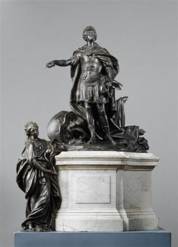 Jean-Baptiste II Lemoyne, Réduction du monument de Louis XV à Rennes, 1777, sculpture, 84 x 60 x 37 cm, Paris, musée du Louvre.
