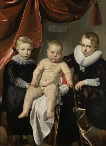Thomas de Keyser, Portrait de groupe de trois frères, huile sur panneau, 121,5 cm  x  88,4 cm, Amsterdam: Rijksmuseum