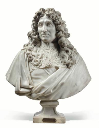 Antoine Coysevox, Buste de Jean-Baptiste Colbert, 1677, marbre, 71 x 70 x 34 cm.